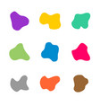 colored spots different curve shapes set fluid vector image
