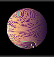 colorful marble planet vector image vector image