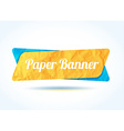 colorful paper banner background for your text vector image