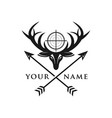 deer hunter logo vector image vector image