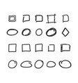 empty check box circles and squares hand drawn vector image