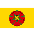 Flag of Lancashire vector image vector image