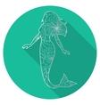 Flat icon of mermaid vector image vector image