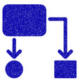 flow chart icon grunge watermark vector image