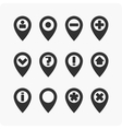 GPS Icons set vector image vector image