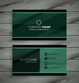 green dark business card vector image vector image