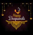 happy diwali festival card vector image