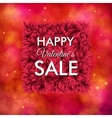 Happy Valentines Sale poster design vector image