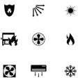 heat icon set vector image