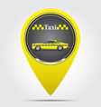 icon label with a taxi vector image