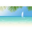 idyllic beach lapped waves vector image vector image