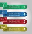 infographics with 4 options modern vector image vector image