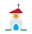 isolated church icon vector image vector image