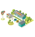 isometric motel vector image vector image