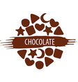 logo for a set of chocolate candies vector image vector image
