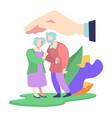 medical insurance for elderly people senior care vector image
