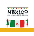 mexico independence day friends with mexican flag vector image vector image