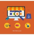 Online shopping icons vector image vector image