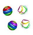 original colorful decorations vector image vector image
