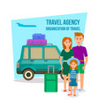 parents traveling with daughter in summer time vector image vector image