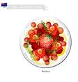 Pavlova Meringue Cake New Zealand vector image vector image