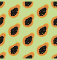 pawpaw seamless pattern vector image vector image