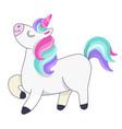 proud unicorn walking with head up animal vector image