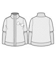 quilted jacket with zipper closure vector image vector image