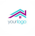 roof color realty logo vector image vector image