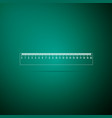 ruler icon on green background straightedge sign vector image vector image