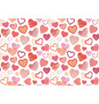 seamless background hand drawn stylized hearts vector image vector image