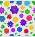 seamless pattern paper flowers vector image vector image