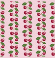 seamless pattern with beauty cherries and leaves vector image vector image