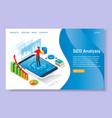 seo analysis website landing page design vector image