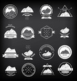 Set of expedition badges vector image