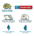 Shell design logo set vector image