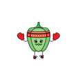 sketch strawberry boxing in gloves vector image vector image