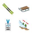 ski sled lifeguard badge badge avalanche ski vector image vector image