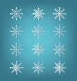 snowflake element vector image vector image