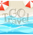 summer seaside vacation go travel vector image vector image