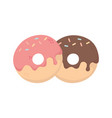 sweet donuts with sprinkles dessert isolated icon vector image
