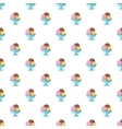 Three scoops of ice cream in bowl pattern vector image