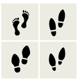 traces feet and shoes vector image