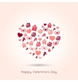 Valentines day heart seamless design background