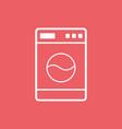 washer flat icon laundress sign symbol flat on vector image vector image