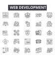 web development line icons signs set vector image vector image