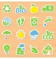 Eco Stickers Set vector image