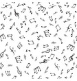 music notes elements seamless pattern musical vector image