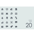 Set of bots icons vector image