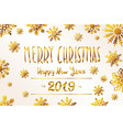 2019 happy new year numeral text hand lettering vector image